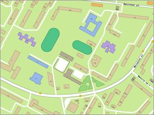 Карта Ставрополя с номерами домов